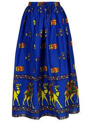 Amore Printed Cotton Skirt -Skv131B