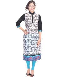 Shop Rajasthan Printed Cotton Long Straight Kurti -Sre2232