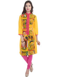 Shop Rajasthan Printed Cotton Straight Kurti -Sre2486