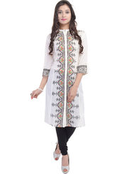 Shop Rajasthan Printed Cotton Straight Kurti -Sre2501