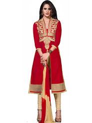 Khushali Fashion Glaze Cotton Embroidered Dress Material -Srsrh7510