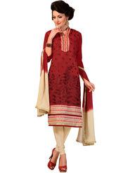 Khushali Fashion Chanderi Embroidered Dress Material -Ssblfr1003