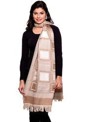 Aapno Rajasthan Pashmina  Fawn Brown Shawl -St1328