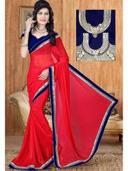 Viva N Diva Georgette Embroidered Saree Sangini-179