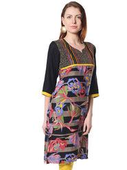 Shree Rayon Printed Kurti - Multicolour - 14369/B