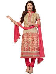 Thankar Semi Stitched  Chanderi Cotton Embroidery Dress Material Tas290-5509