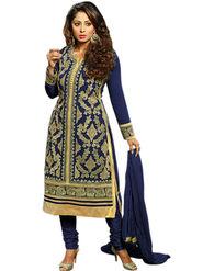 Thankar Semi Stitched  Faux Georgette Embroidery Dress Material Tas303-B03