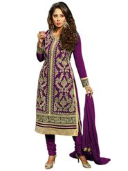 Thankar Semi Stitched  Faux Georgette Embroidery Dress Material Tas303-B04