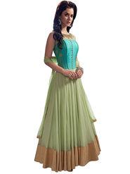 Thankar Semi Stitched  Net Embroidery Dress Material Tas307-Nf06