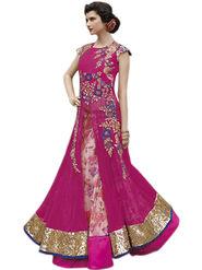 Thankar Semi Stitched  Mono Net Embroidery Dress Material Tas312-5103