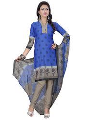 Triveni's Crape Printed Dress Material -TSLCSK9103