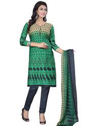 Triveni's Crape Printed Dress Material -TSLCSK9105