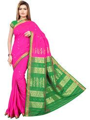 Triveni's Art Silk Zari Worked Saree -TSMRCC3007