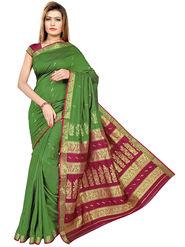 Triveni's Art Silk Zari Worked Saree -TSMRCC3008