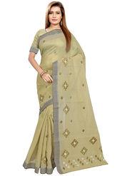 Triveni's Blended Cotton Embroidered Saree -TSMRCCPI4013