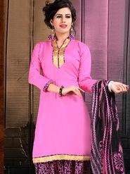 Viva N Diva Cotton Lace Work Embellished Unstitched Suit Tanaz-115