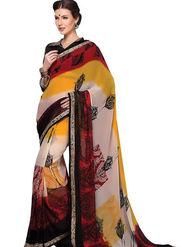 Triveni Sarees Faux Georgette Printed Saree - Multicolor - TSNSU86001