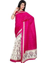 Triveni Art Silk Printed Saree - Off White - TSRI4019