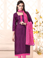 Viva N Diva Bhagalpuri Silk Embellished Unstitched Suit Utsav-5004