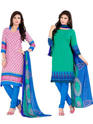 Khushali Fashion Crepe Printed Dress Material With two Top -VRMGEV25015