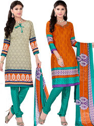 Khushali Fashion Crepe Printed Dress Material With Two Top -Vrmgev25019