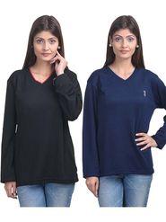 Pack of 2 Eprilla Spun Cotton Plain Full Sleeves Sweaters -eprl39