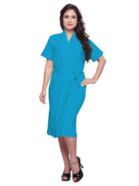 Turquoise Turkish Cotton Bathrobe_DB-BR-RTM-212