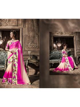 Viva N Diva Georgette  Printed Saree 10116-Tia