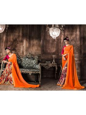 Viva N Diva Georgette  Printed Saree 10122-Tia