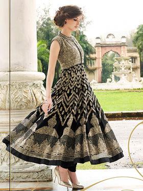 Viva N Diva Embroidered Georgette Semi Stitched Suit 10151-Lavish