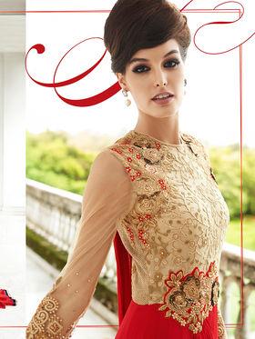 Viva N Diva Embroidered Georgette Semi StitchedSuit 10157-Lavish