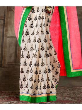 Viva N Diva Printed Bhagalpuri Silk Saree -sa11