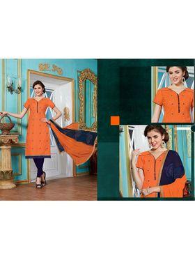 Viva N Diva Emroidered Unstiched Cotton Dress Material_11133-Elifa