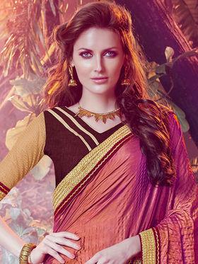 Indian Women Embroidered Paper Silk Multicolor Designer Saree -MG12322
