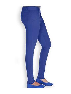 Uber Urban Cotton Lycra Solid Pant - Royal Blue_AURA-CP-RBLU