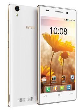 Intex Aqua power Plus 5 Inch Android Lollipop 3G Smartphone - White & Champagne