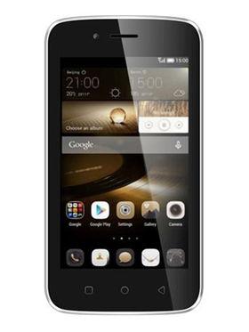 Karbonn Alfa A112 4 Inch Android (KitKat) Dual Sim Smartphone - Black & Champ