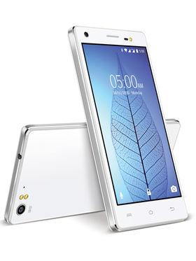 Lava V2 5 Inch 64-bit Quad Core (RAM : 3GB ROM : 16GB )- Icy White