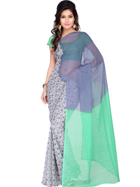 Combo of 5 Adah Fashions Georgette Printed Saree -ad05