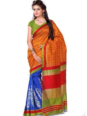 Combo of 7 Adah Fashions Art Silk Printed Saree -ad09