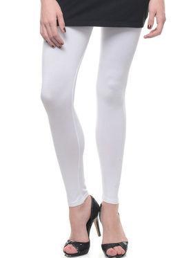 Combo of 6 Lavennder Solid Cotton Lycra Leggings