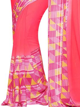 Viva N Diva Printed Georgette Saree -11015-Graziaa