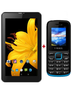 Combo of I Kall IK1 3G Calling Tablet With I Kall 1.8 Inch Mobile