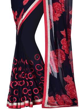Shonaya Designer Printed Georgette Saree - PIMAG-130
