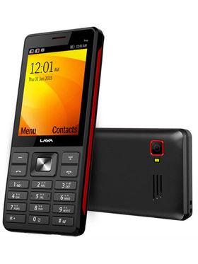 Lava KKT Trio Triple Sim Phone - Black & Red