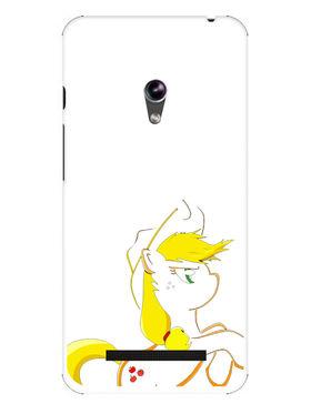 Snooky Designer Print Hard Back Case Cover For Asus Zenfone 4.5 - White