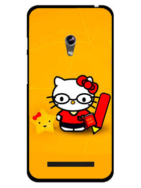 Snooky Designer Print Hard Back Case Cover For Asus Zenfone 4.5 - Yellow