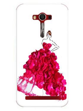 Snooky Designer Print Hard Back Case Cover For Asus Zenfone 2 Laser 5.0 (ZE500KL) - Pink