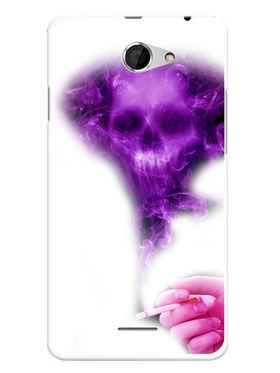 Snooky Designer Print Hard Back Case Cover For HTC Desire 516 - Purple