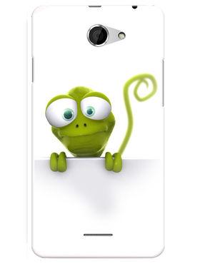 Snooky Designer Print Hard Back Case Cover For HTC Desire 516 - Green